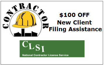 Save 10% on State Contractors Filing Service for New Clients